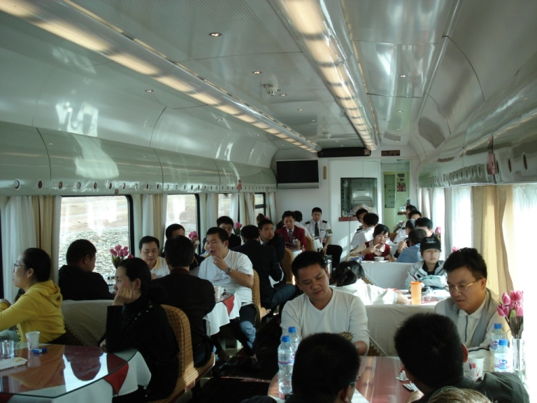 One of the Dining Cars on the Beijing-Lhasa train