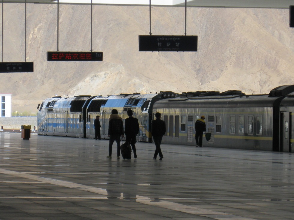 The mesmeric Lhasa Train Station after a 41+ hour journey from Beijing
