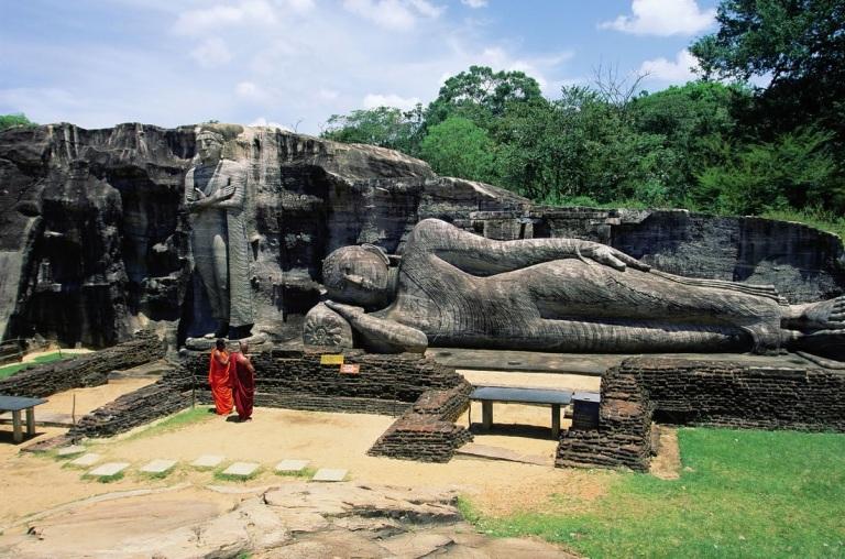 Relics at Polonnaruwa
