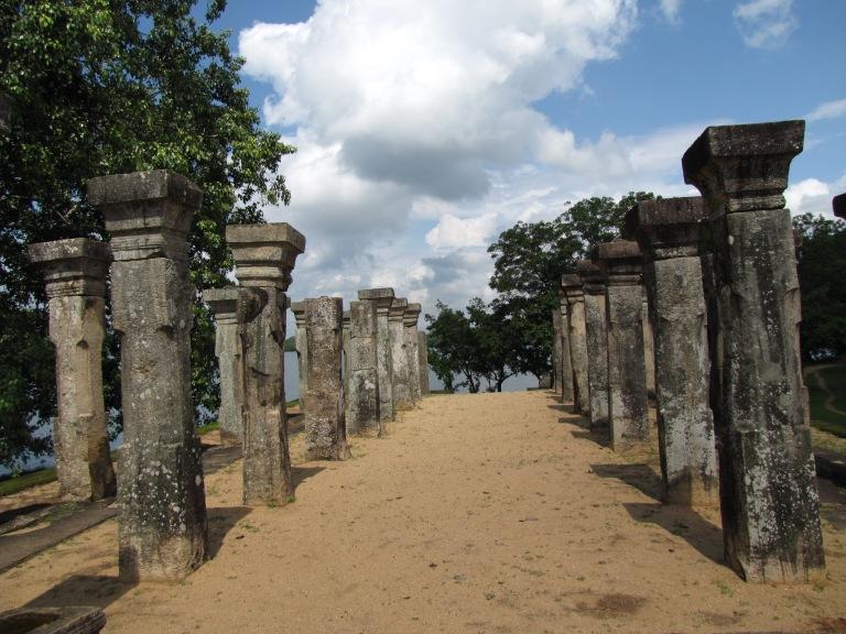Not a lot of shade at Polonnaruwa!