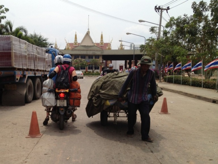 That's the Thai entry ahead - notice the traditional Thai architecture of the gateway
