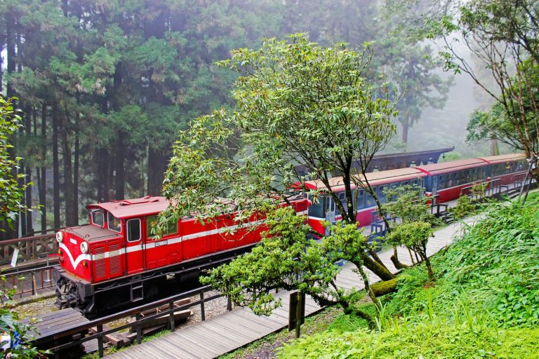 The Mountain Railway in Alishan