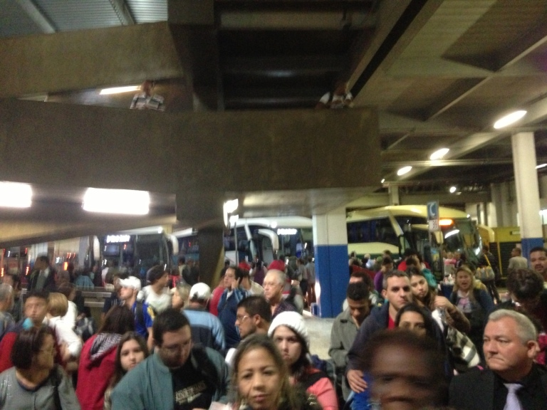 Chaos at the bus station!