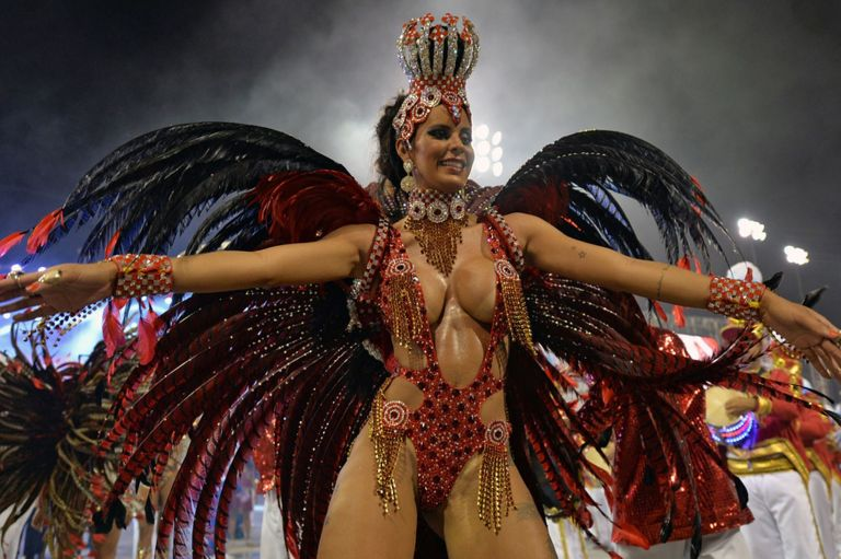 The atmosphere can be electric during Carnivals in Rio