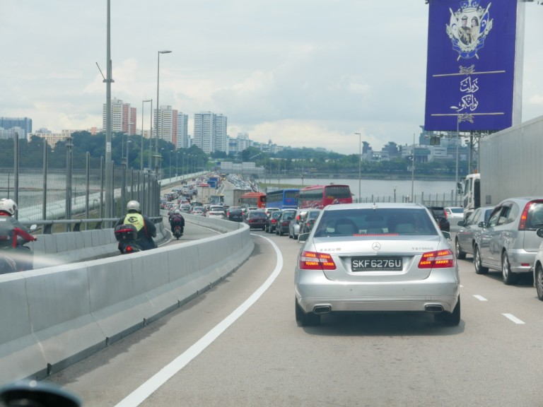 Johor Causeway in traffic
