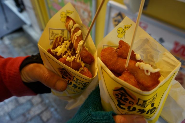 Takeaway Karaage chicken in Tokyo