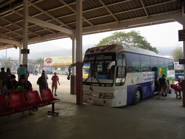 A VIP Bus to Vang Vieng from Luang Prabang South Station