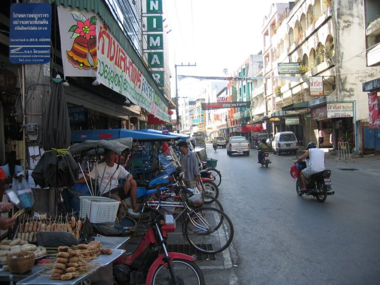 The border market at Mae Sot in Thailand