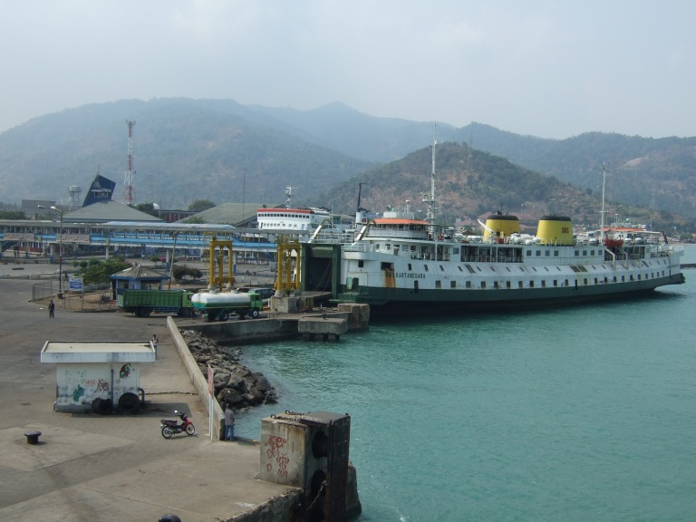 Arrival at Merak port (the train station is very near)