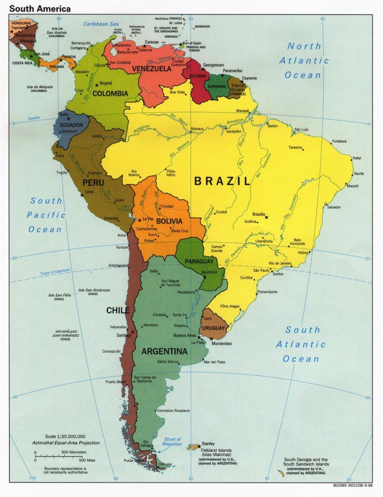 Map of South America (click to enlarge)
