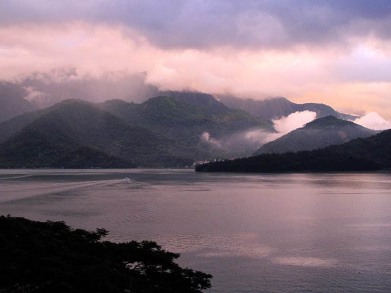 Sun Moon Lake in autumn