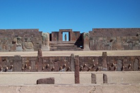 Tiwanaku is a major Incan ruin in Bolivia