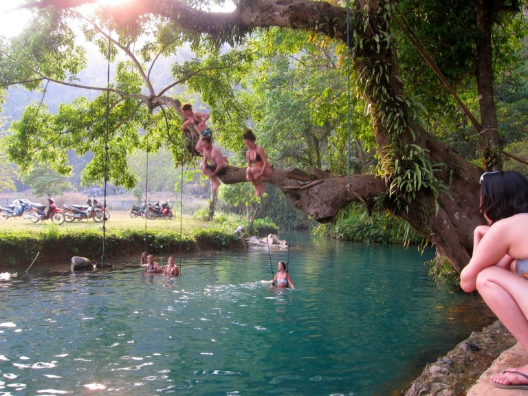 The Blue Lagoon of Vang Vieng
