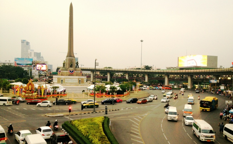 The Victory Monument in Bangkok