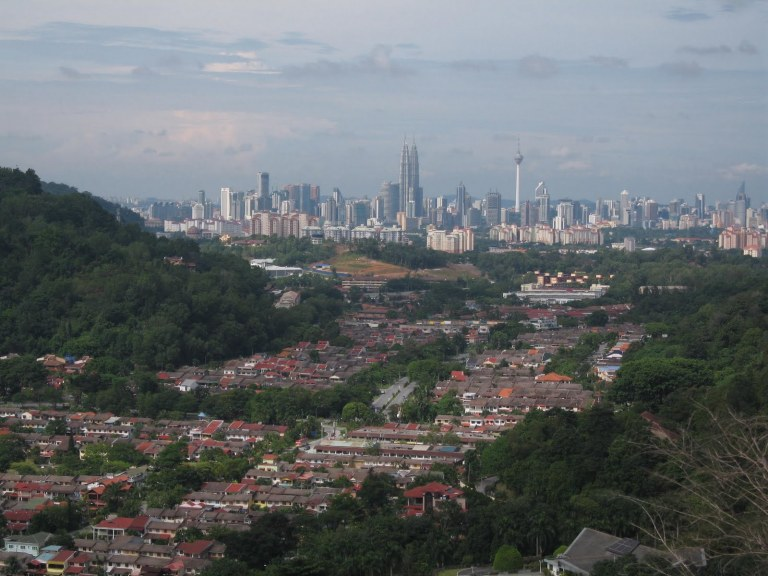 The view from Bukit Tabur