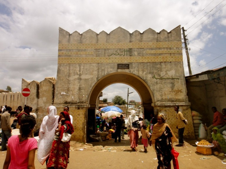 The holy city of Harar in the East
