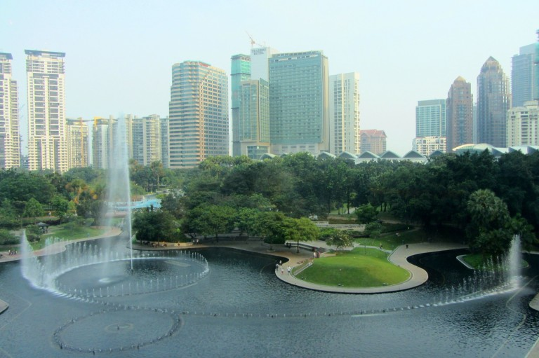 KLCC Park and its fountains