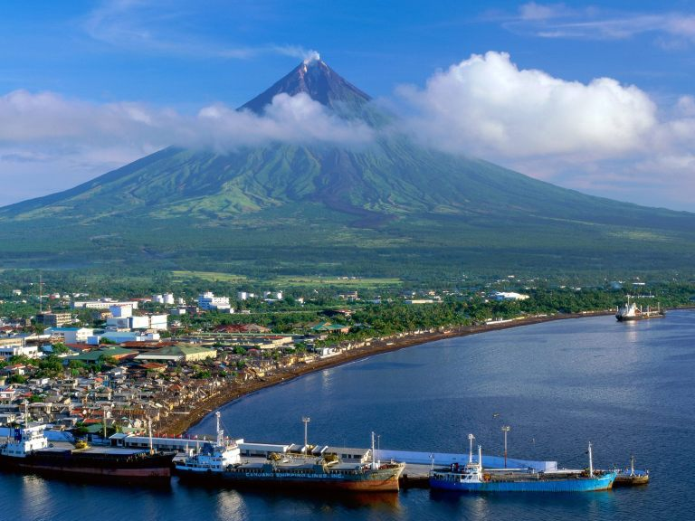 The active Mayon Volcano