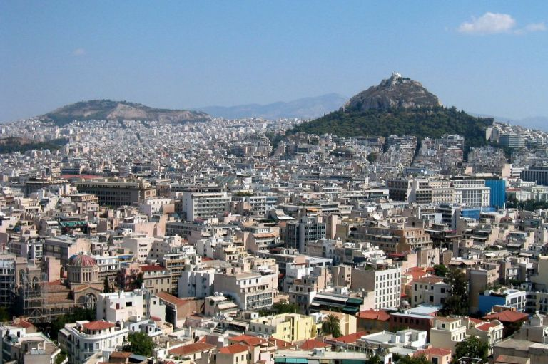 Lycabettus towers over the city