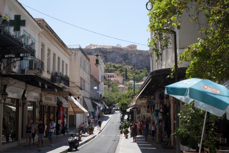 The Plaka Neighbourhood of Athens