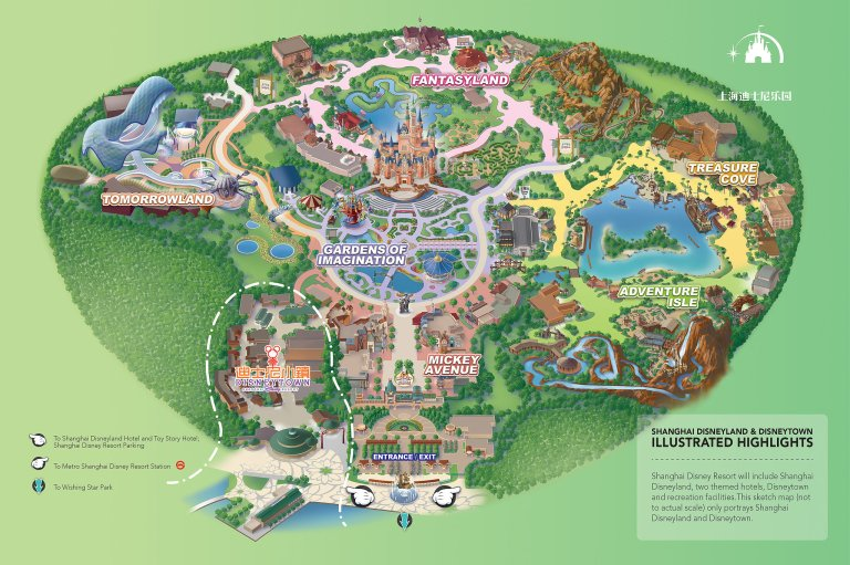 2016 Shanghai Disneyland park map (click to enlarge)