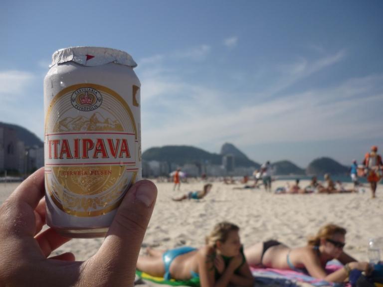 Always drink beer when on Brazilian beaches!