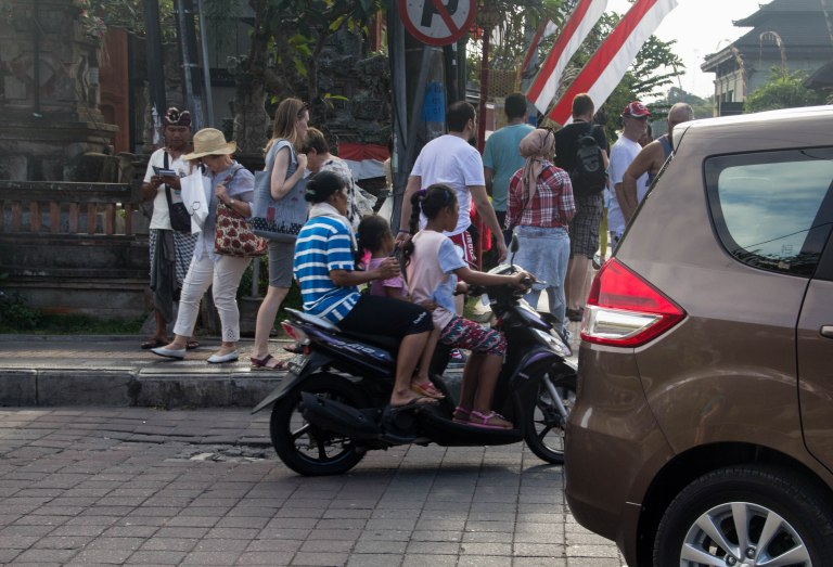 Watch out for the crazy mopeds around Ubud!
