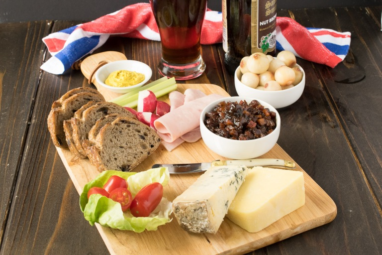 The Ploughman's Lunch is a very filling kind of street food!