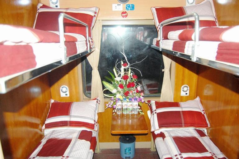 Good sleeping cabins enroute to Sapa