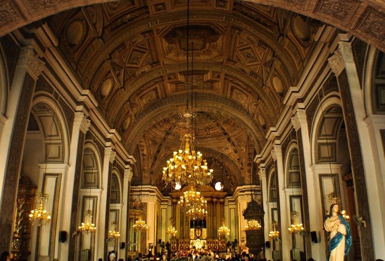 Inside San Augustin Church