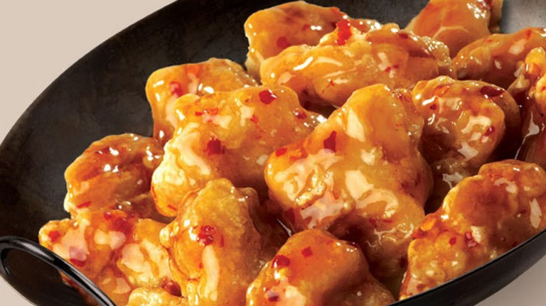 Orange chicken is a Chinese speciality