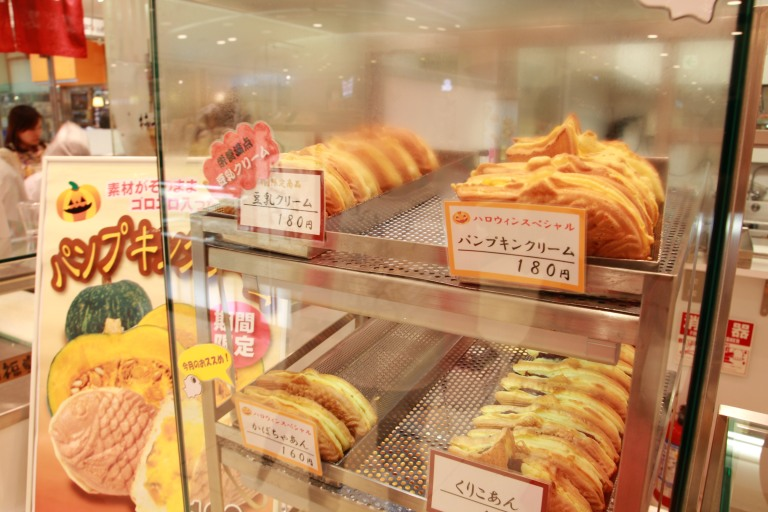 Taiyaki with many fillings!