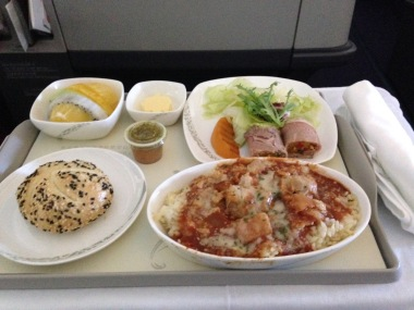 Simple yet effective food with Air China's business class product