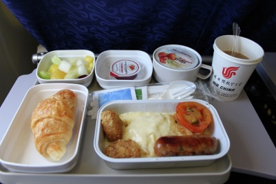 Economy Class food is not one of Air China's strong points