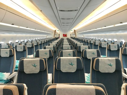 Air Mauritius economy class on its A350 aircraft