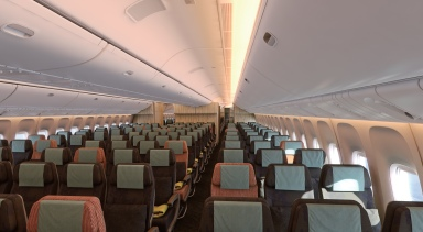 China Airlines economy class on the B777