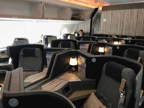 Excellent Biz cabin on the A350 of China Airlines