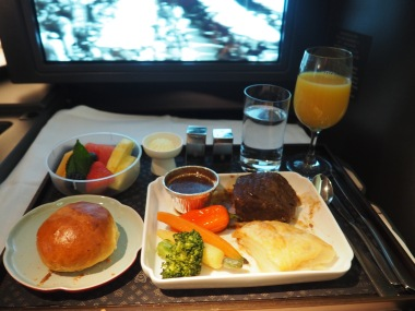 Business Class meals with China Airlines are a thing of elegance