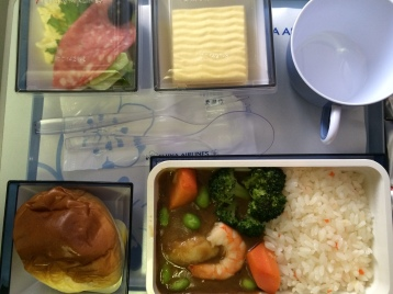 China Airlines economy class meal