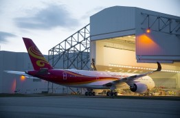 The A350 in Hong Kong Airlines livery