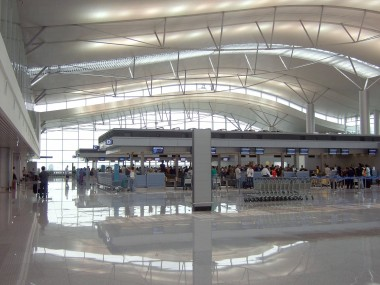 Tan Son Nhat Airport in Saigon is a very airy airport