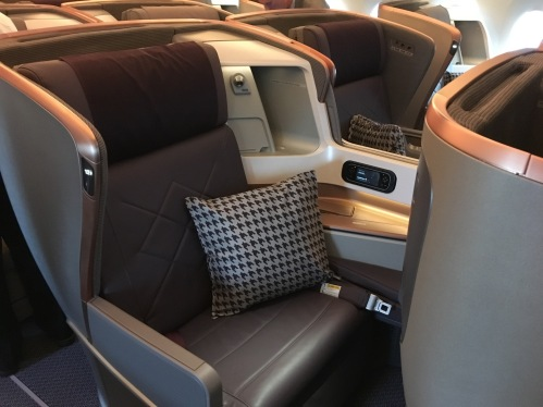 Sexy business class on Singapore Airlines A350