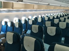 Vietnam Airlines economy class cabin on the A350