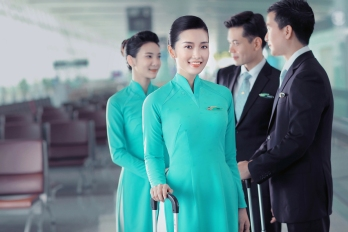 All smiles with Vietnam Airlines
