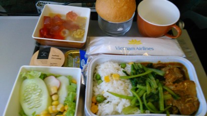A Vietnam Airlines economy class meal