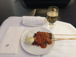 Malaysian Satay is a tradition of MH business class snacking