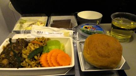 """Malaysia Airlines economy class """"meal"""""""